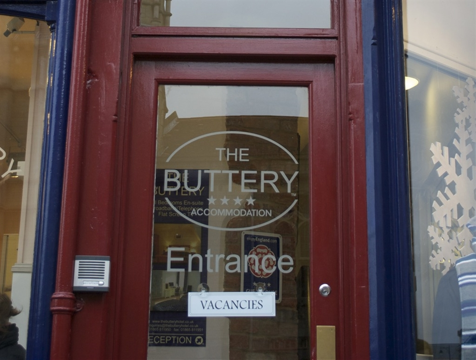 The Buttery, Oxford's Entrance